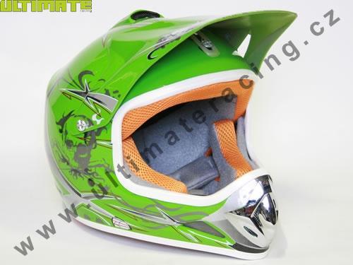 130a6967b9e Helmy - Moto přilba Nitro Racing zelená - UltimateRacing.cz